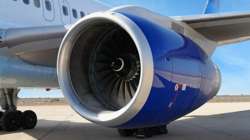 Turbine vom Flugzeug