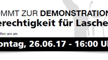 Demonstration für die Kollegen von Tiedemann und LCH