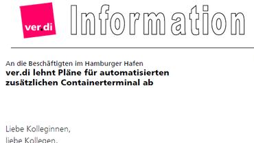 Gegen ein automatisiertes zusätzliches Containerterminal