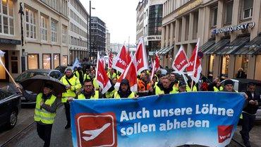 BVD Streik am 14.03.19, Demo zur Finanzbehörde