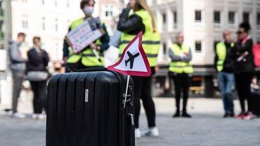 Kundgebung der Flughafen-Beschäftigten vor der Finanzbehörde
