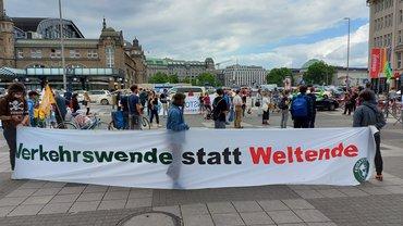 Kundgebung von FFF und TVN2020-Aktiven.